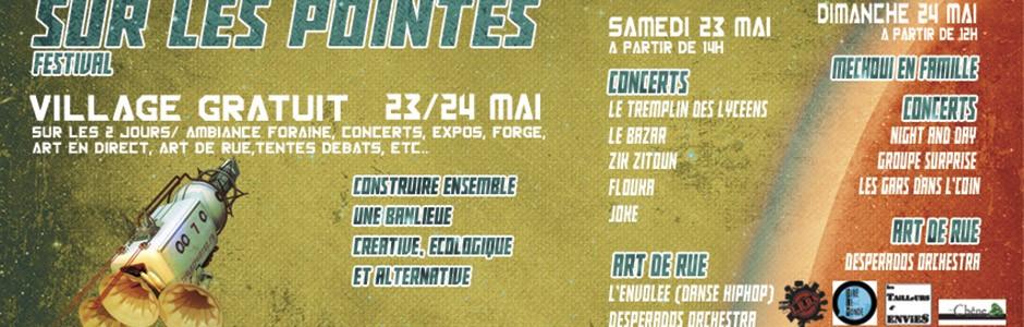 Le Village du Festival sur Les Pointes, les 23 et 24 mai 2015 à Vitry-sur-Seine